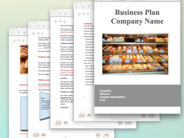 Bakery Business Plan Template Sample Pages | priya | Bakery business