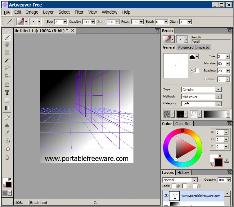 Artweaver Free v7.0.1 FREE Image Editor Image editor