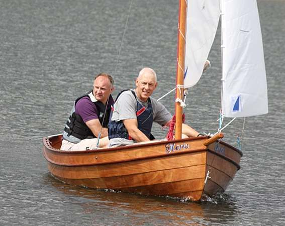 Light Wooden Sailing Boat Built From A Fyne Kit