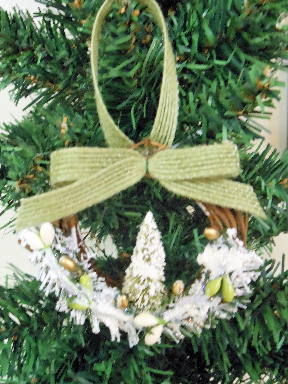 christmas ornaments country christmas ornaments handmade ornaments white green christmas ornaments grapevine ornaments rustic ornaments by