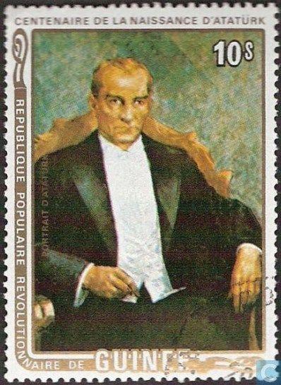 Postage Stamps - Guinea - Kemal Atatürk