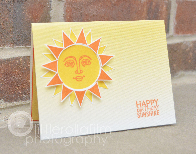 Happy Birthday Sunshine Card By Littlerollafilm On Etsy