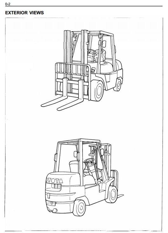 Toyota LPG Gorklift Truck 6FGCU33, 6FGCU35, 6FGCU45