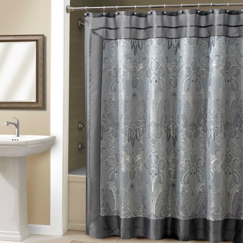 Luxury Ralph Lauren Shower Curtain Navy