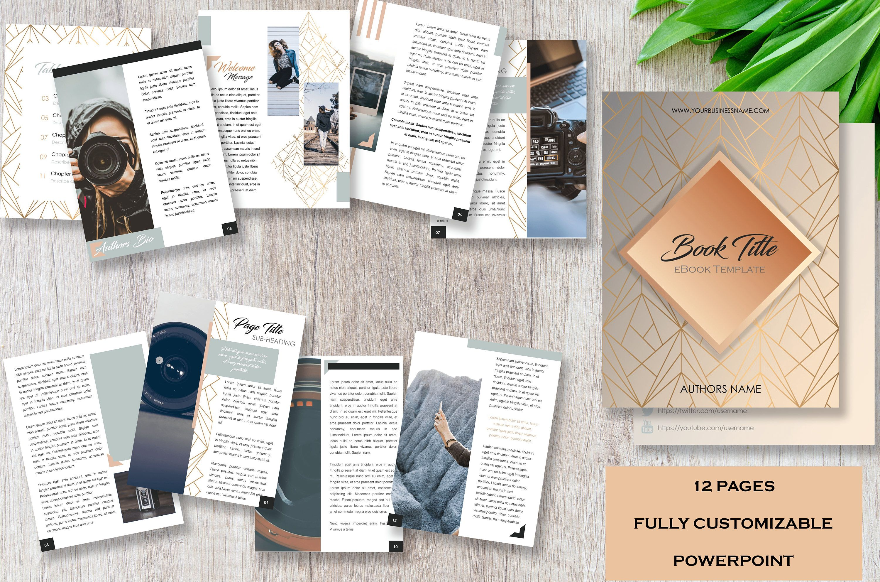 Ebook Template 12 Pre Designed Pages Fully Customizable Point By Wordographycontent On Etsy
