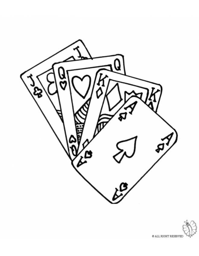 Disegno: Carte da Gioco. Disegni da colorare e stampare ...