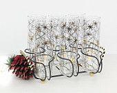 Atomic sunburst glass set / tom collings glasses / caddy glass set / mid century glasses