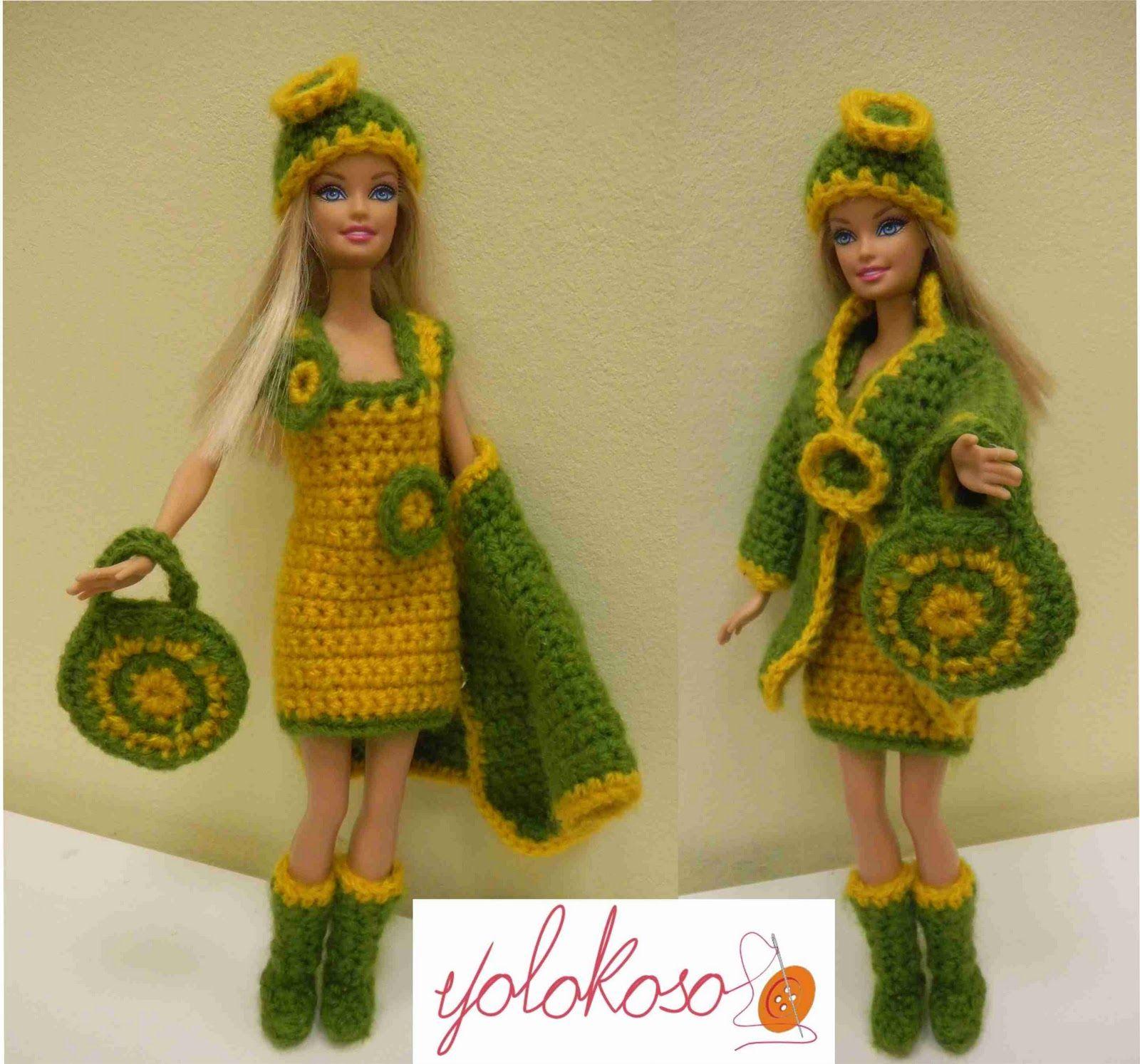 Increíble Los Patrones De Crochet Libre Para Barbie Cresta - Ideas ...