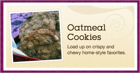 Oatmeal Cookies recipe collection and recipes...  Discover the sweet side of baking with whole grains in these oat-filled cookies.  From crisp lace wafers to chewy, fruit-filled cookies, a bite of these will expand your recipe file of wholesome desserts.