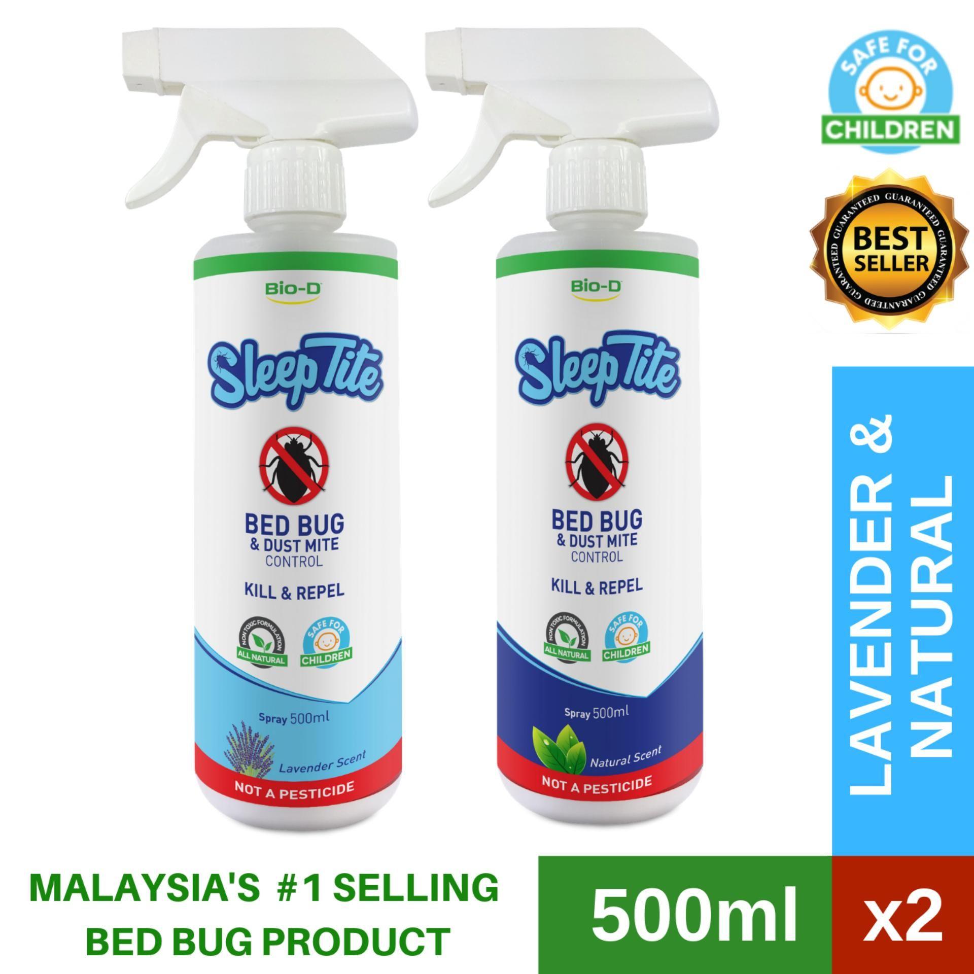 Bio D Sleeptite Bed Bug Dust Mite Control 500ml Spray Natural