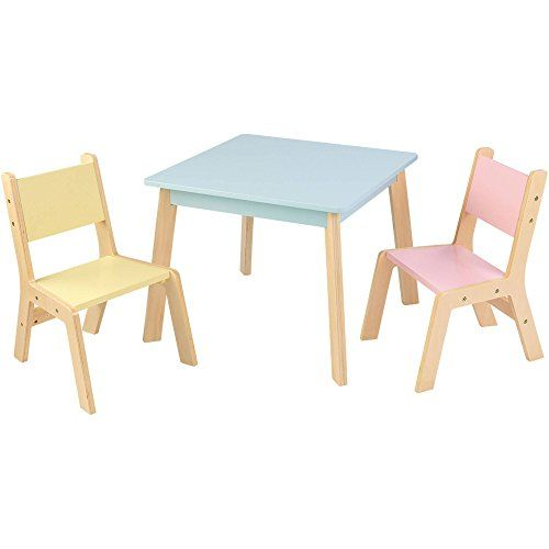 Kidkraft Sturdy Modern Pastel Kids Table And 2 Piece Chair Set You Can Get More Details By Clickin Modern Table And Chairs Table And Chair Sets Modern Table