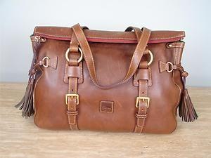 Dooney & Bourke Florentine Leather Tassel Satchel Chestnut 118   eBay