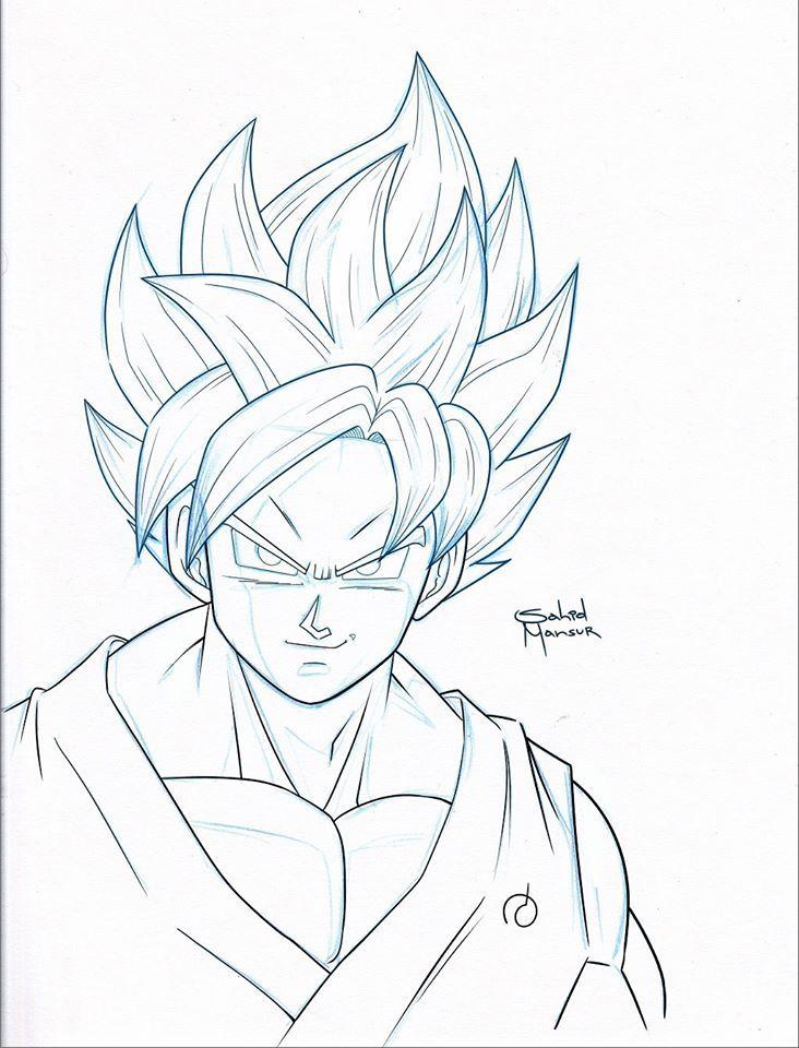 Super Saiyan Blue Line Fan Art Goku Pics Drawings Art