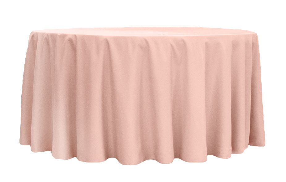 round polyester 132 tablecloth blush in 2019 final wedding rh pinterest com
