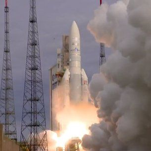 An Ariane 5 Carrying Two Telecom Satellites Inside A New Lighter Fairing Lifted Off On The Fourth Mission From Europe S Spaceport In Two Months