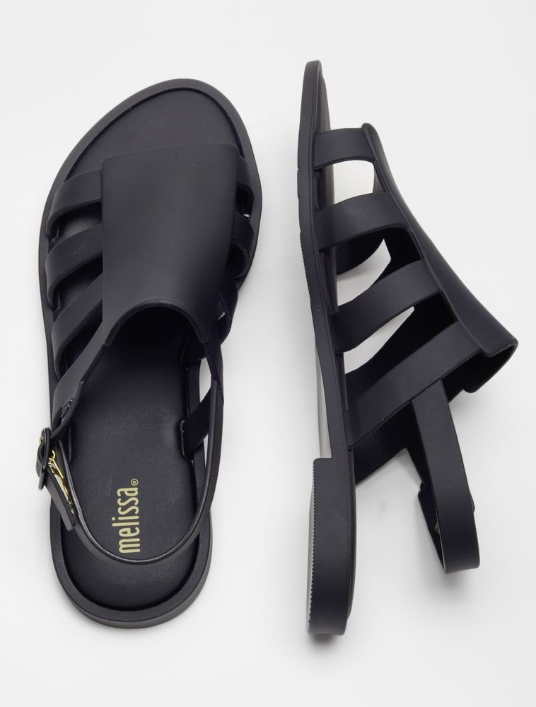 b7f3cd18cb Sandália Melissa Boemia Preto Opaco - Glamour Tipos De Sapatos