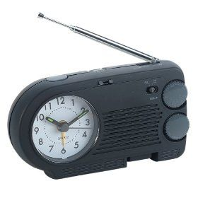 Dad gave me a handheld AM Clock/Radio rechargeable and to charge it I would plug it into the wall! I loved it!