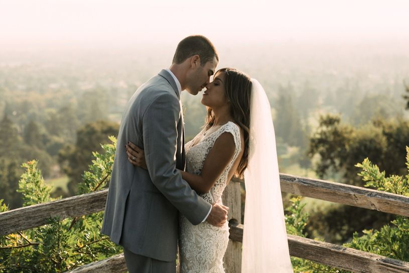 San Jose Country Club Wedding Pics Cathedral Style Veil Inspiration By Heather Elizabeth Photography
