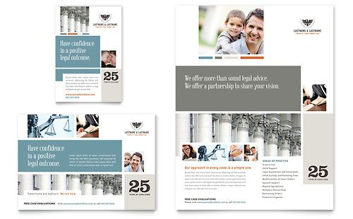 Family Law Attorneys Ad - Word Template \ Publisher Template - microsoft word templates for brochures