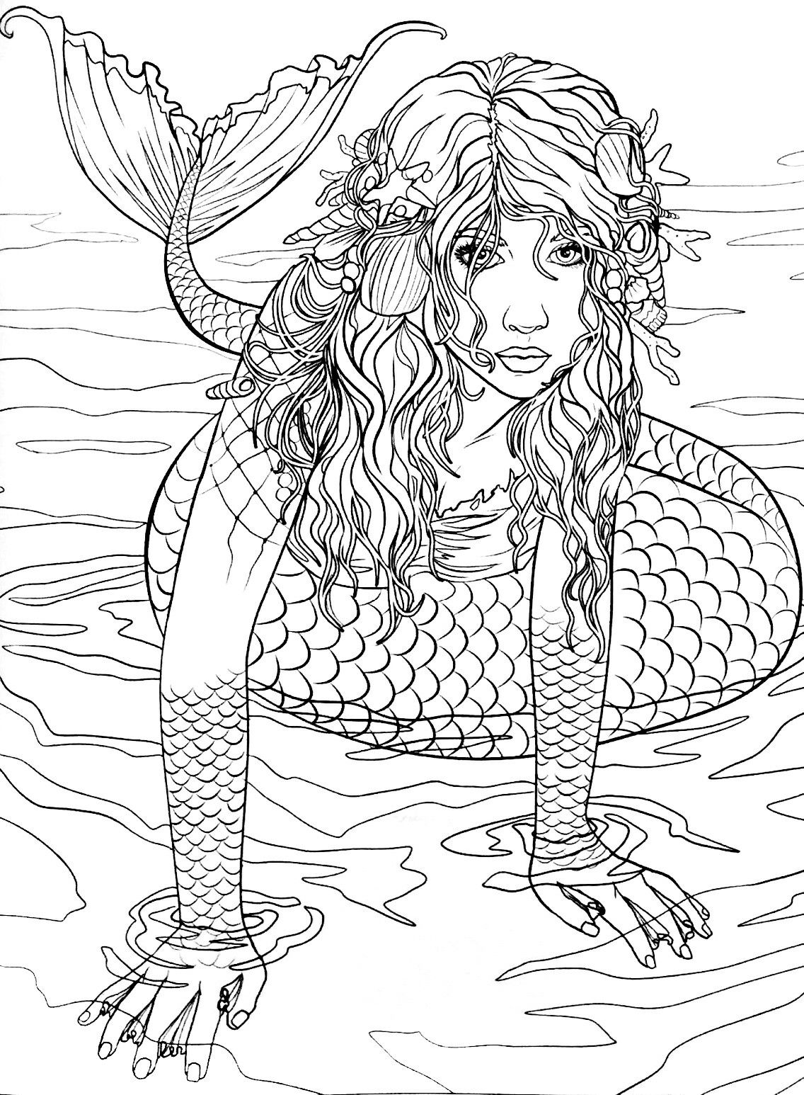 Pin By Manuel Villagra On Coloring Sirens Of The Sea Mermaid Coloring Pages Mermaid Coloring Book Mermaid Coloring