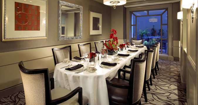 hilton checkers los angeles hotel, ca - private dining room