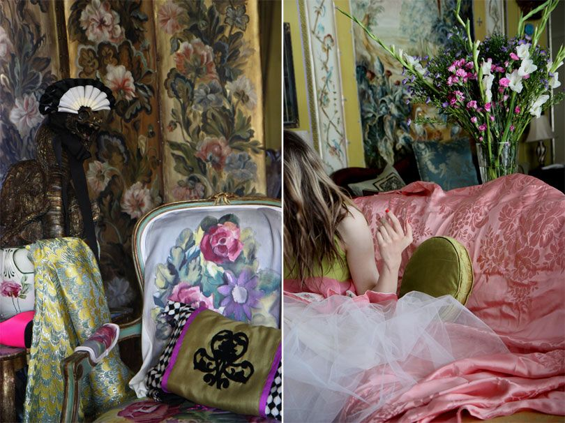 geoffrey bennison interiors images | Styling, photography, painted screen, fabric, and pillow by (IN ...