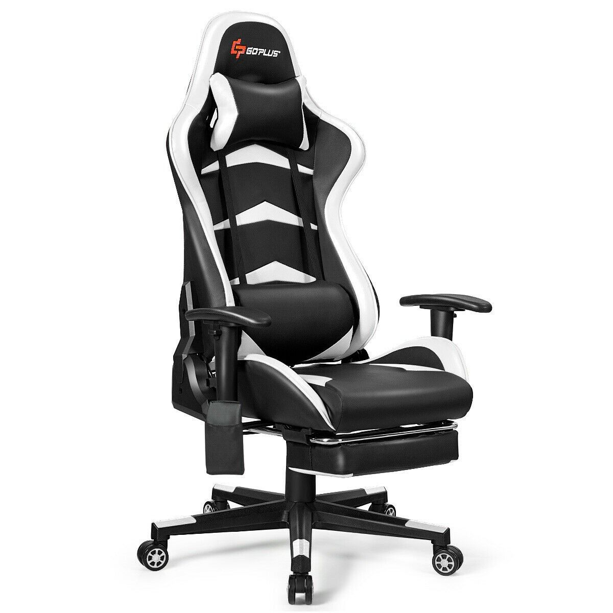 Massage Gaming Chair With Lumbar Support Footrest Gaming Chair