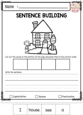 free sentence building 1st grade kindergarten writing sentence building first grade writing. Black Bedroom Furniture Sets. Home Design Ideas