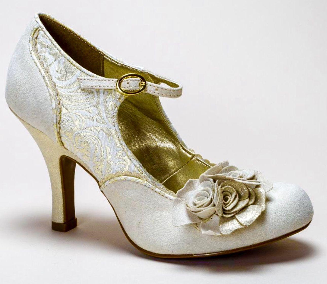 Ruby Shoo Emily, Escarpins Femme - Or - Gold (Cream/Gold), 41 EU (8 UK)