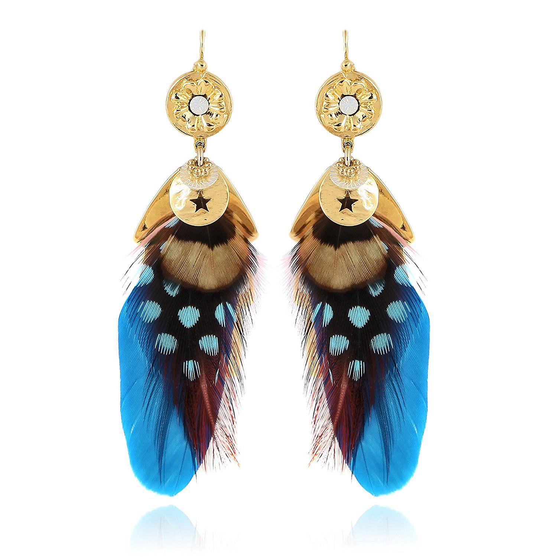 Gas Bijoux Sao Feather Drop Earrings NjkXzyteE