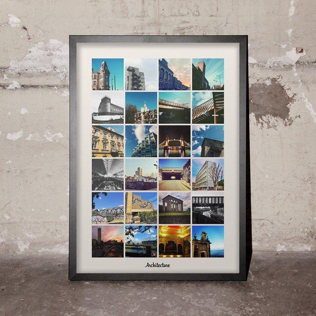 Instagram Grid Print - graph paper template print