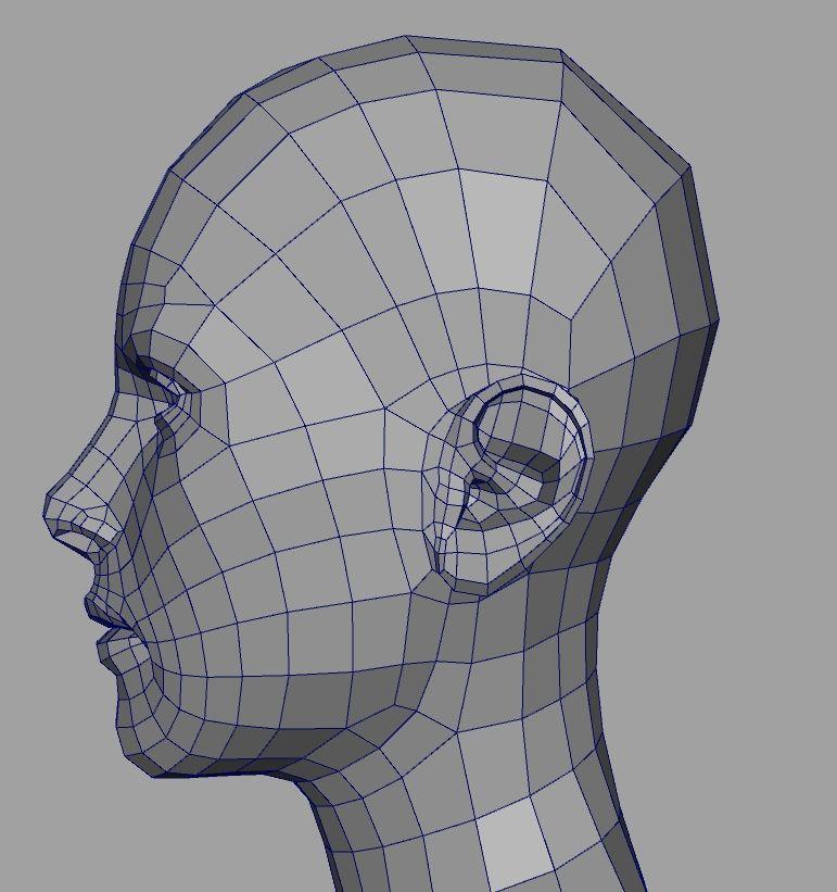 C4D] WIP Human Head | 布线 | Pinterest | Human head, 3d and Models