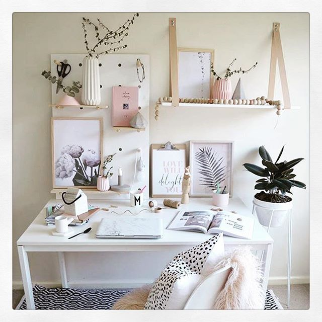 Theyoungcreative Has Done A Wonderful Job Creating This Home Office Space Which Is Featuring Kmart With Images Study Room Decor Workspace Inspiration Home Office Design