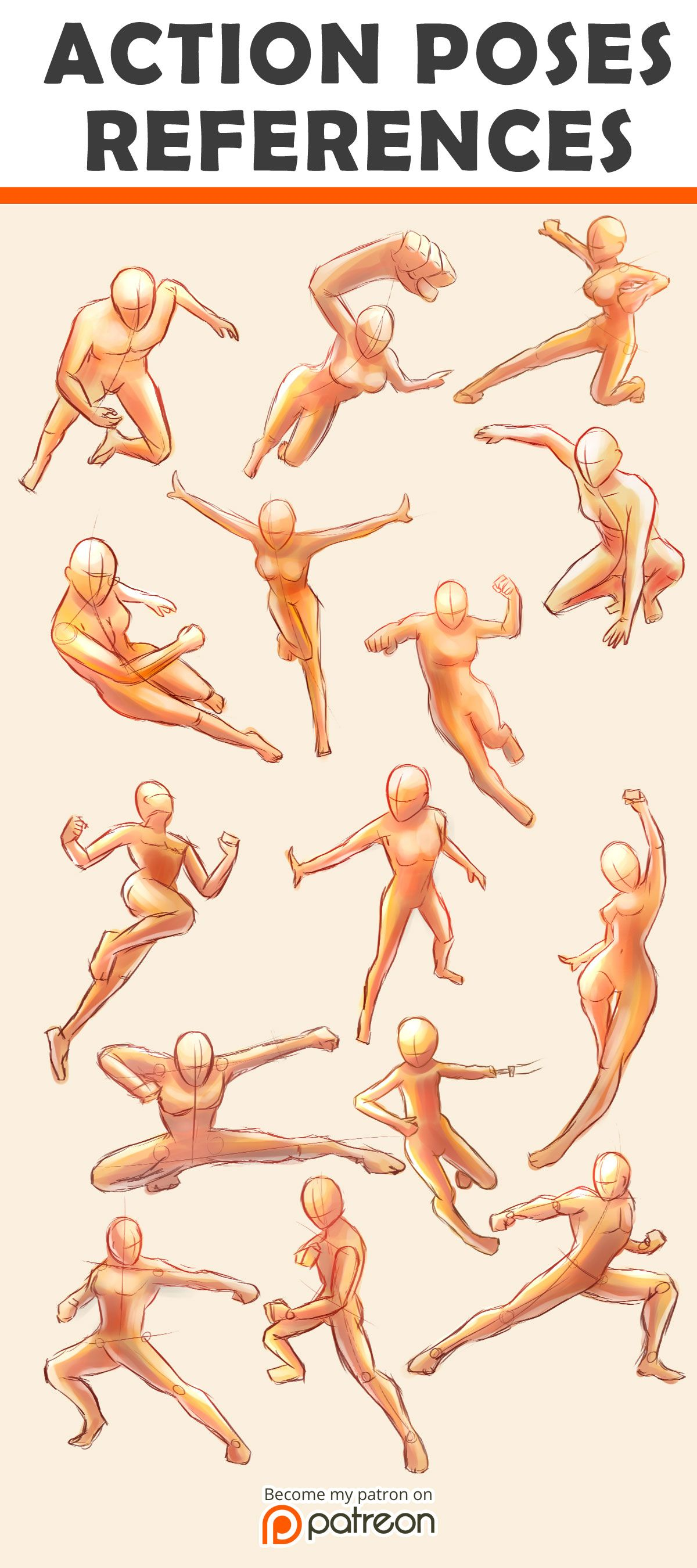 Action Poses Reference Sheet Action Pose Reference Pose Reference Art Reference Poses