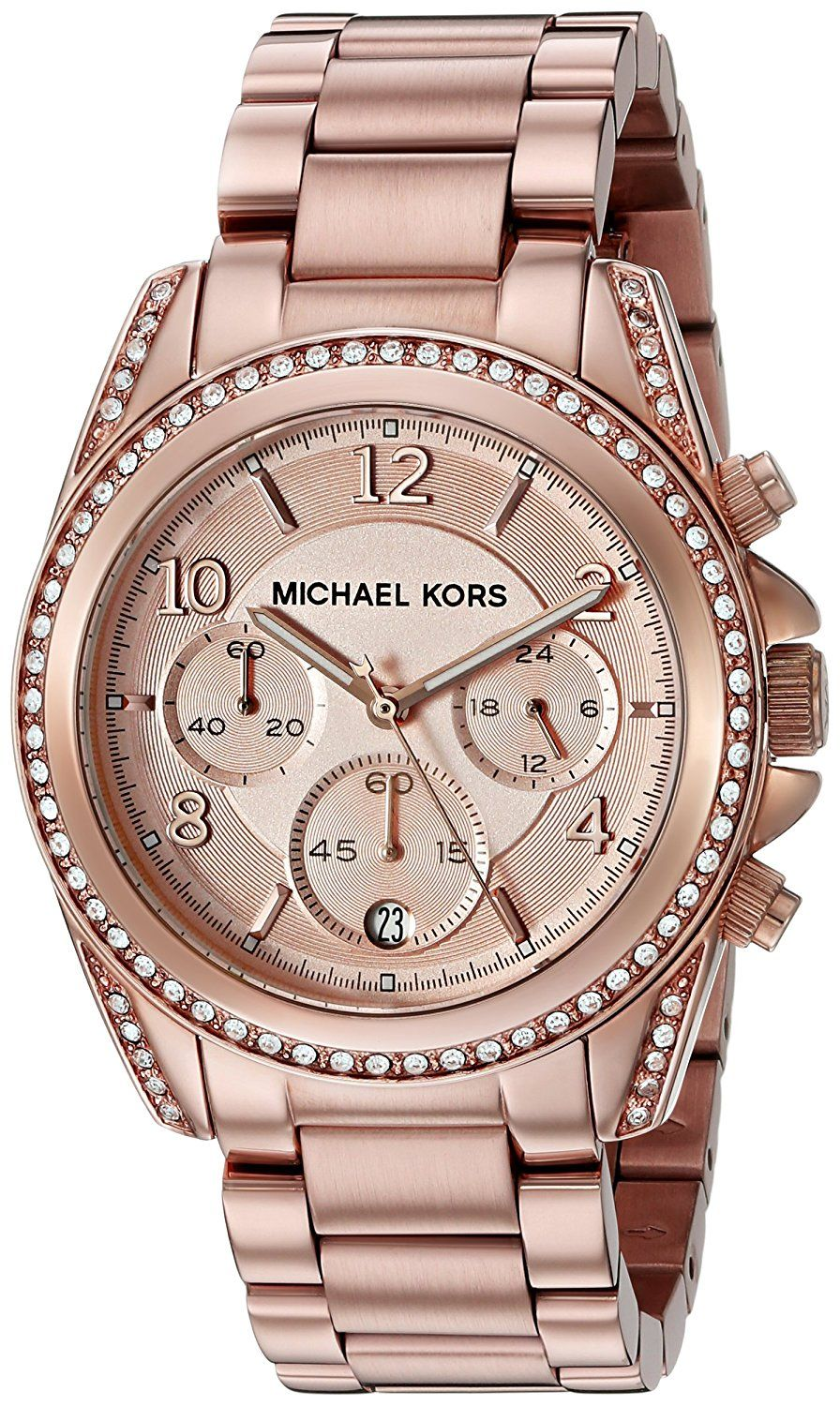 5d9fb1d95186 Michael Kors Watches Ladies Rose Gold Blair Watch    You will love this!  More info here   Fashion