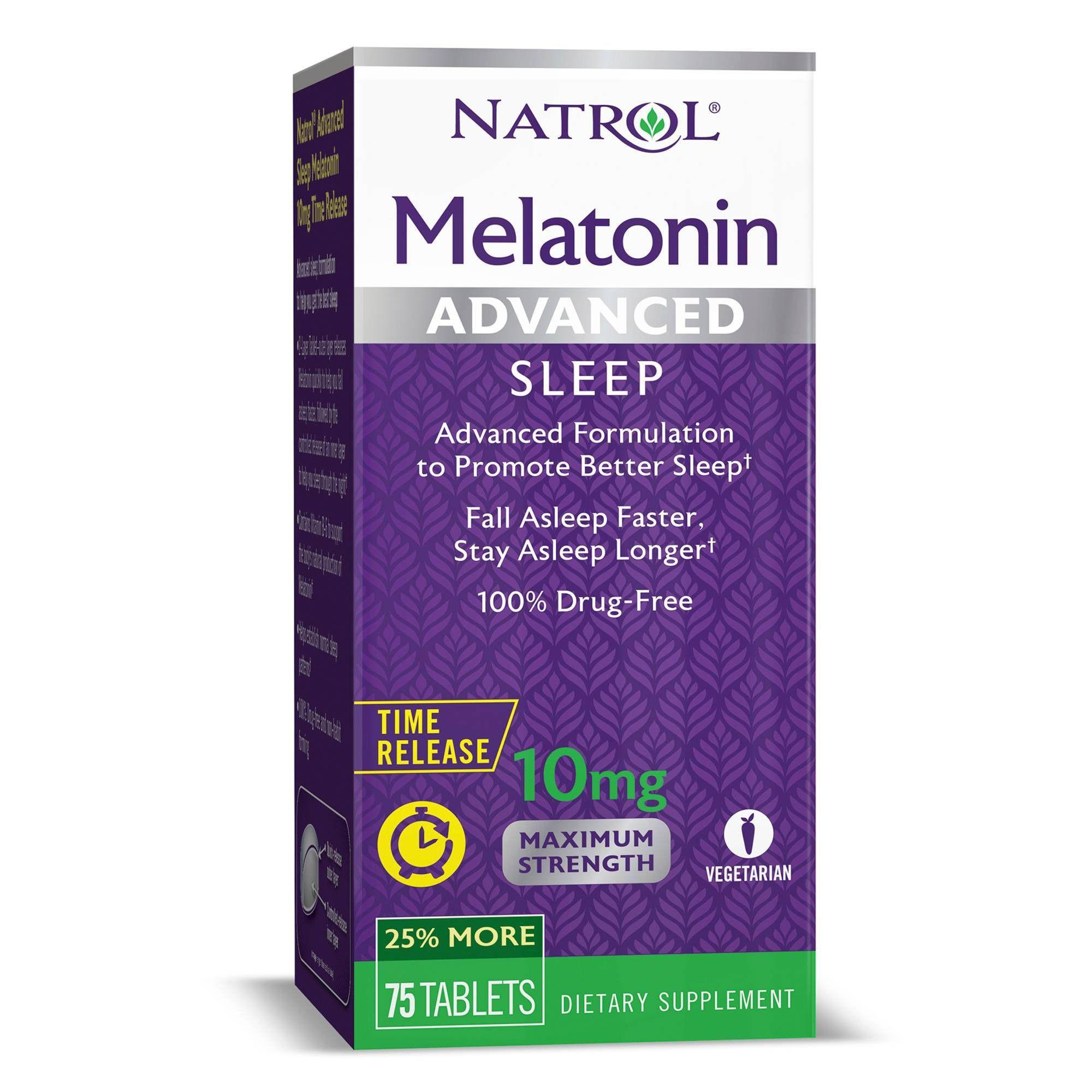 Natrol Melatonin Advanced Sleep Aid 10mg Supplement Tablets