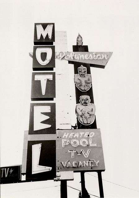 Polynesian Motel sign, Anaheim California | Roadside Attractions