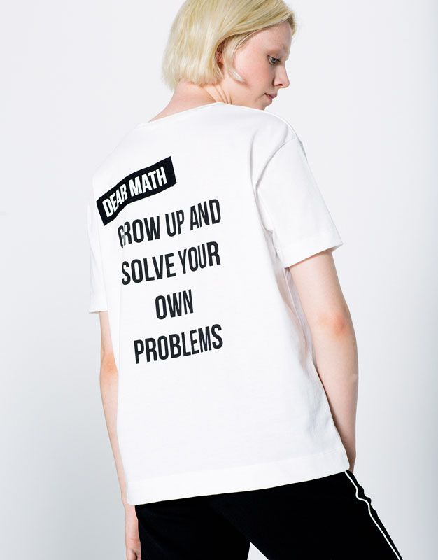 BACK T-SHIRT WITH TEXT #stye #fashion #trend #onlineshop #shoptagr