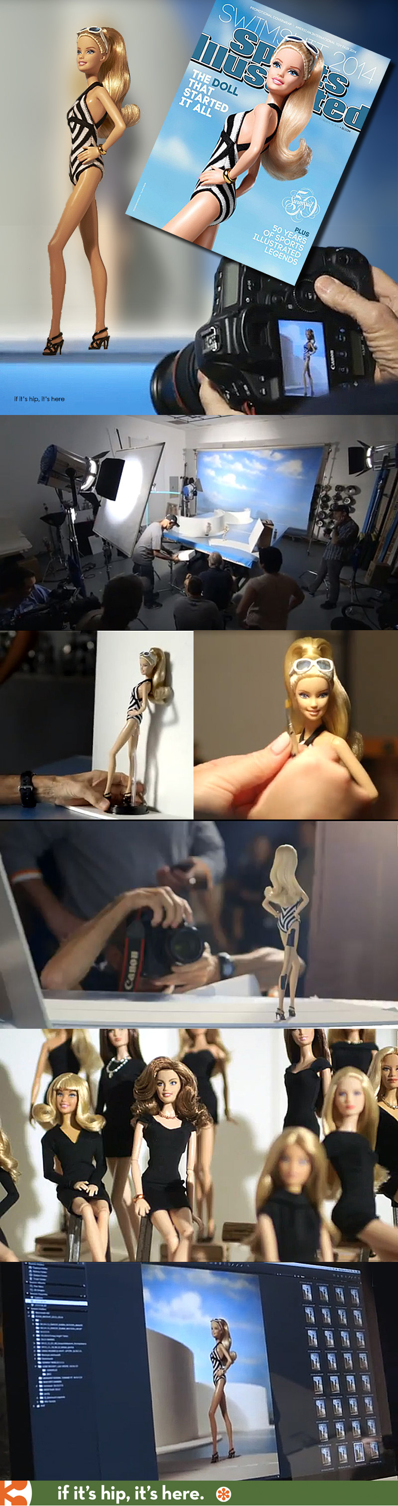 Behind The Scenes At Barbie's photoshoot for SI.