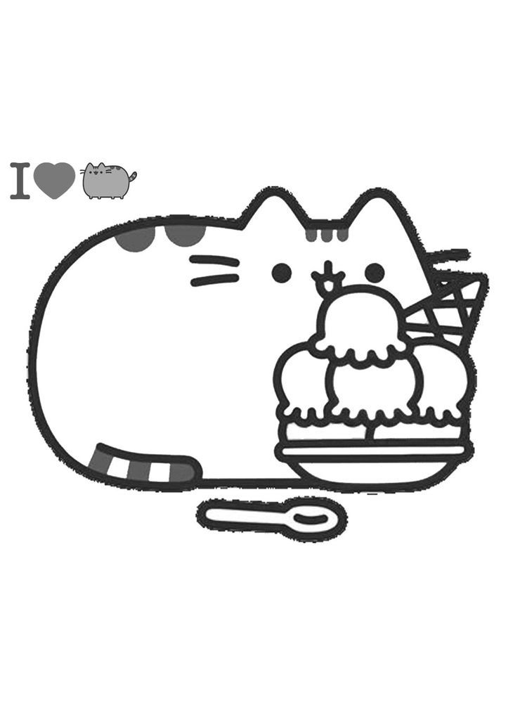 Pusheen Cat Coloring Page : pusheen, coloring, Pusheen, Coloring, Pages, Supercoloring., Female, Cartoon, Comic, Material, And…, Pages,