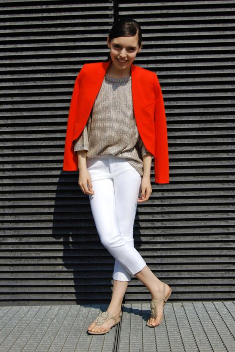 red short blazer