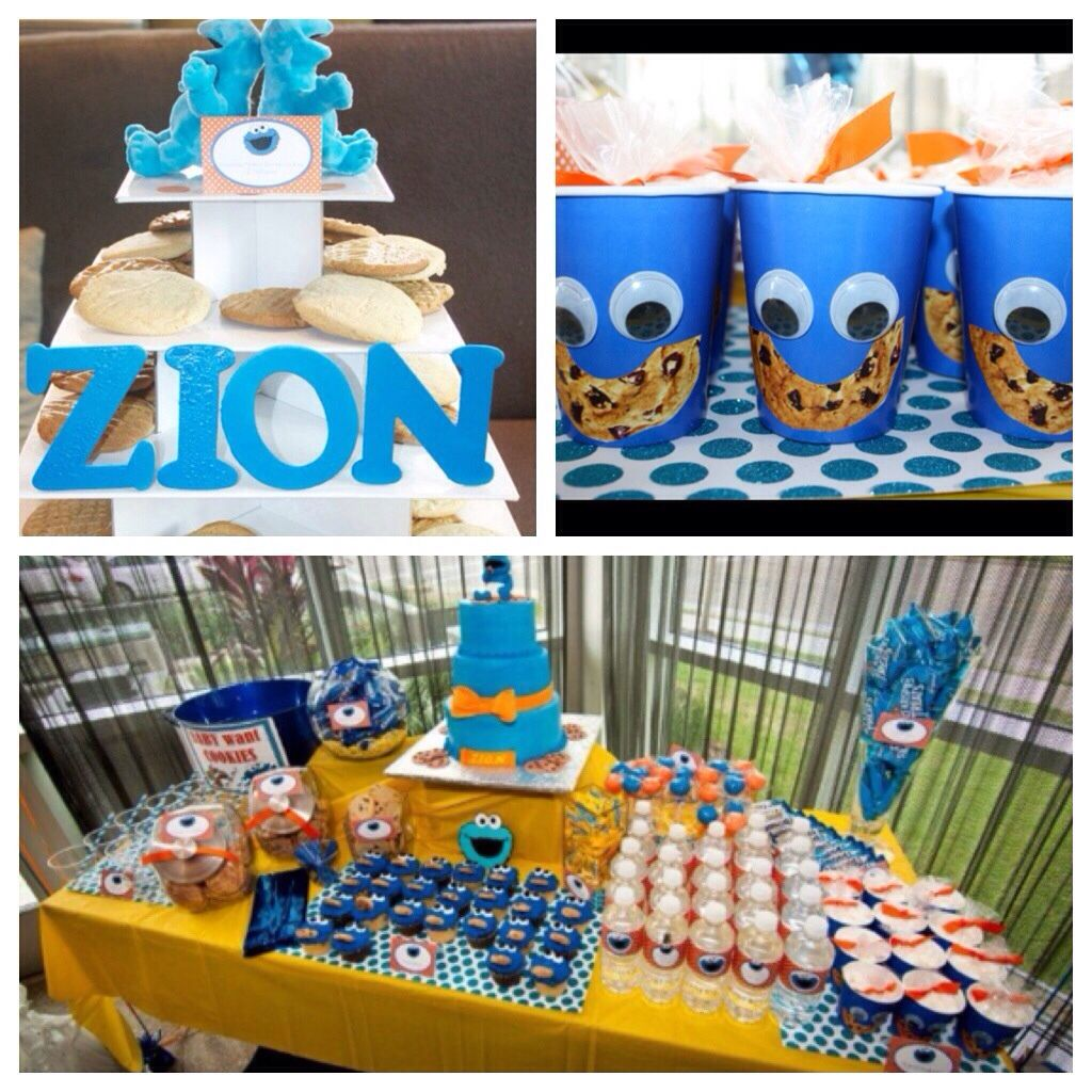 Great Cookie Monster Baby Shower Or Birthday