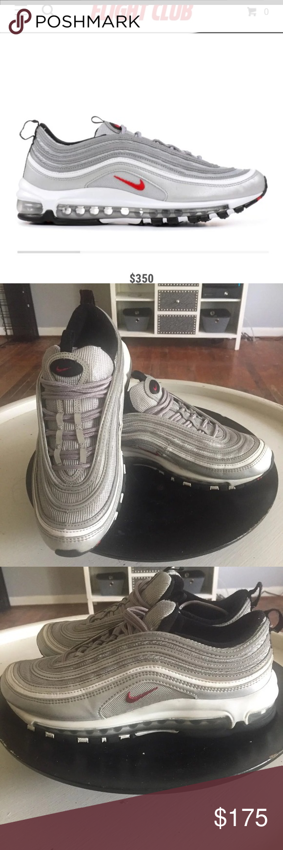 da6f1e225d894f ... czech nike air max 97 silver bullet mens 9 these were purchased at flight  club on
