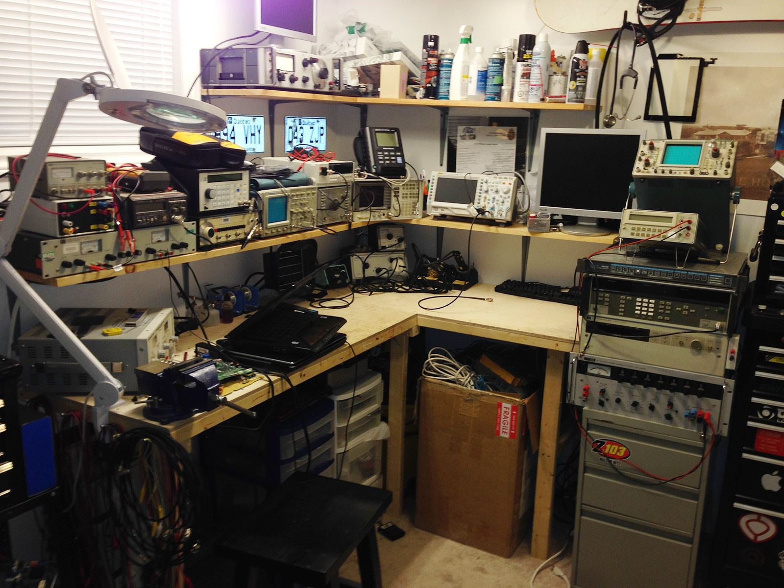 Whats Your Work Bench Lab Look Like Post Some Pictures Of Your Lab Page 32 Electronic Workbench Ham Radio Workbench