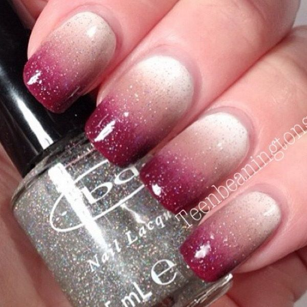 70+ Stunning Glitter Nail Designs - 70+ Stunning Glitter Nail Designs Glitter Ombre Nails, Ombre Nail