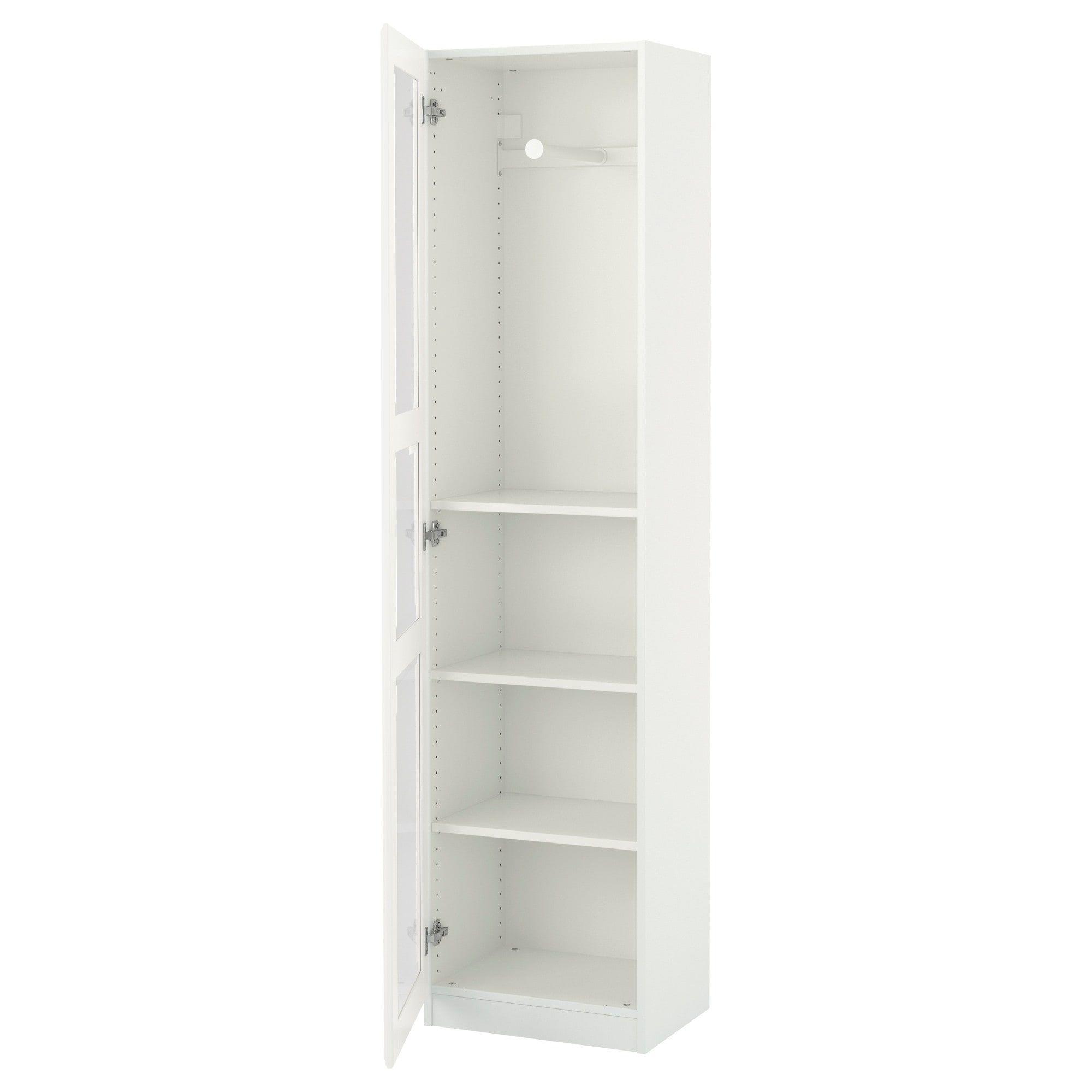 Pax wardrobe white tyssedal glass in studio space