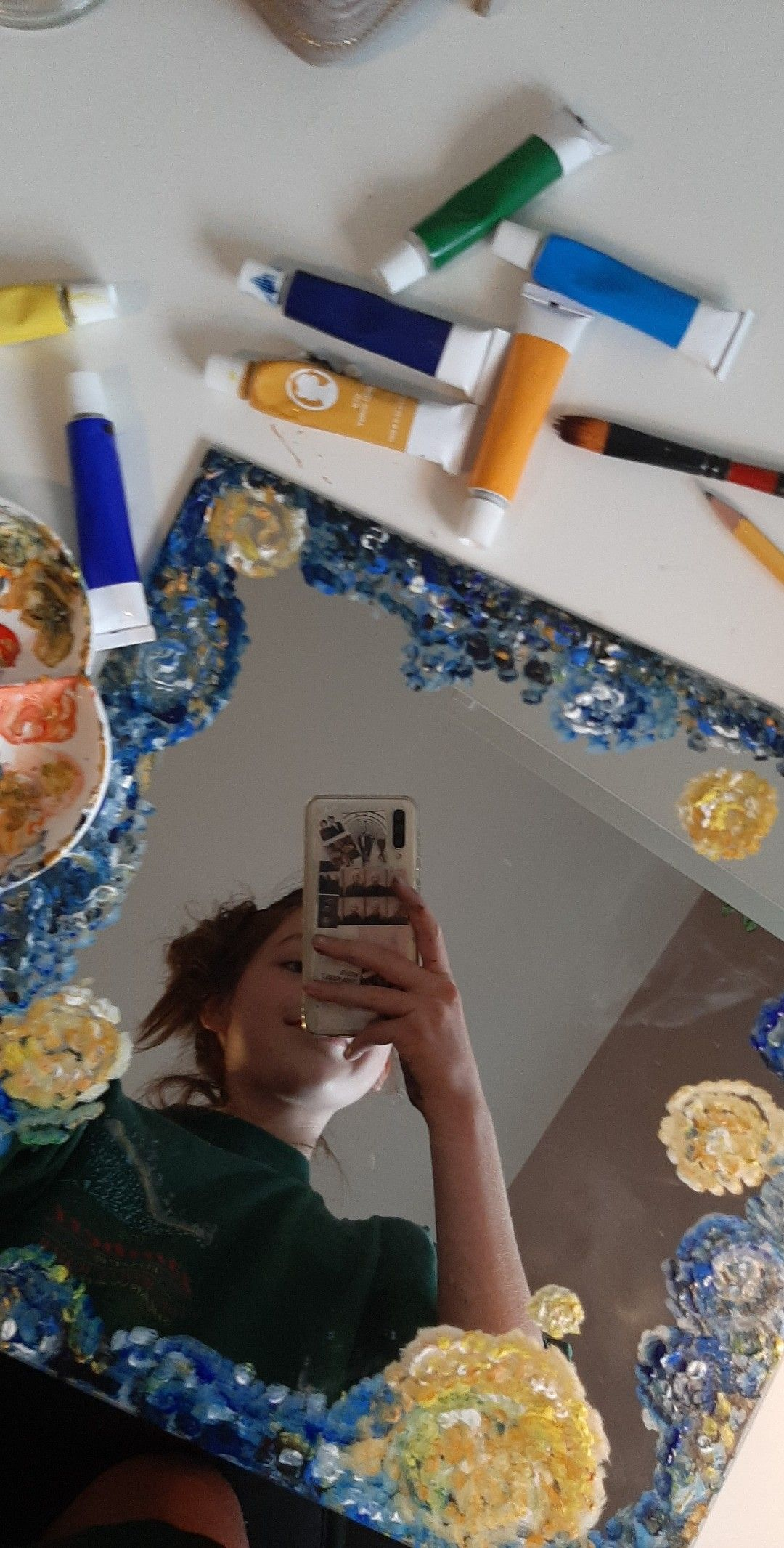 I D Recommend Using Acrylic Paint Mirror Painting Mirror Artwork Body Painting