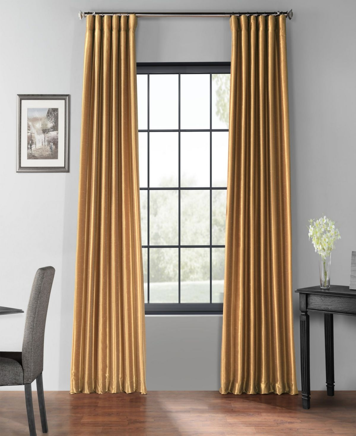 Exclusive Fabrics Furnishings Blackout Vintage Textured 50 X 96