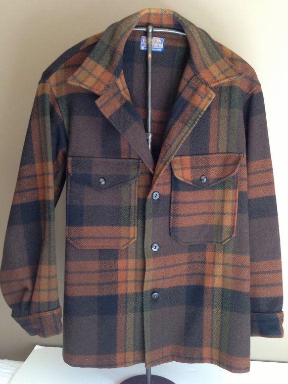 e55fece2a4a73 vintage Pendleton wool plaid HUNTING MACKINAW JACKET by LaDolfina, $85.00