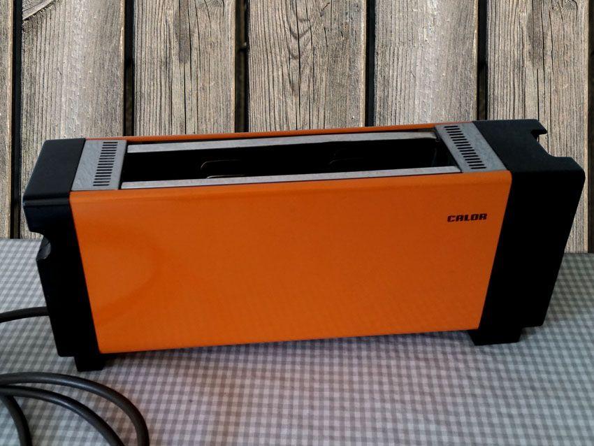 Grille pain électrique Calor années 70 de couleur orange. Bel ...